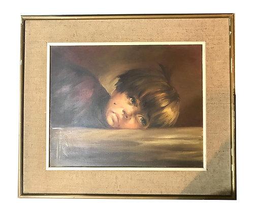 Cuadro Retrato de niño Medidas: 59 x 68 cm