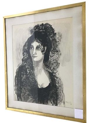 Cuadro Retrato  Medidas: 74,5 x 61 cm