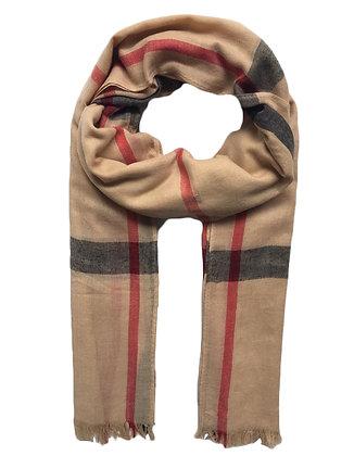 Pañuelo estampado escoces Medidas: 93 x 188 cm