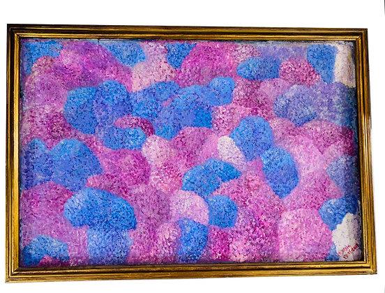 Cuadro abstracto M. Olsen Medidas: 100 x 60 cm aprox.