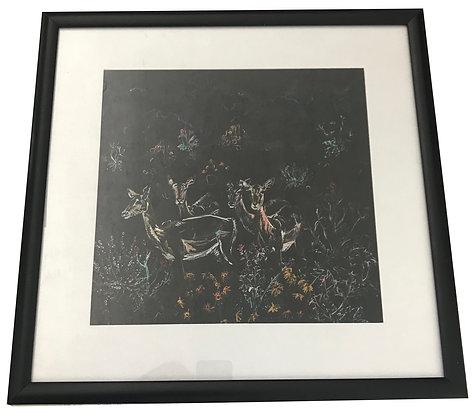 Cuadro Ciervos Medidas: 41,5 x 41, 5 cm