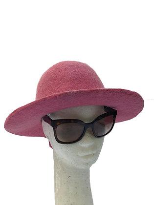 Sombrero de lana rosa