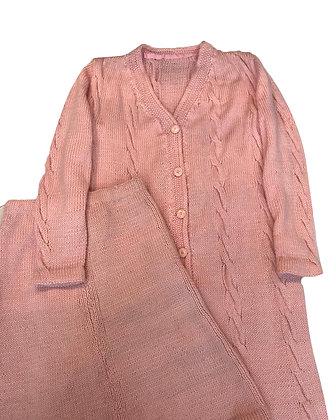 Conjunto tejido - Pollera y tapado  Talle: sin talle
