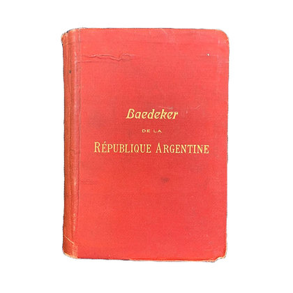 Libro Baedeker de la Republique Argentina