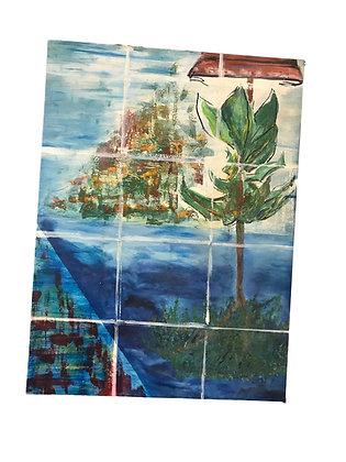 2 Cuadros de paisaje Medidas: 57 x 67 cm