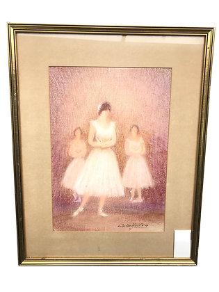 Cuadro Bailarinas de ballet Medidas: 60 x 45 cm aprox