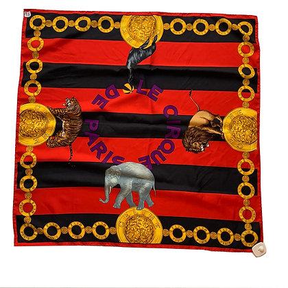 Pañuelo Celine Medidas: 87 x 87 cm Estampado Cirque De Paris