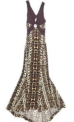 Vestido Cavalli largo animal print  Talle: 42