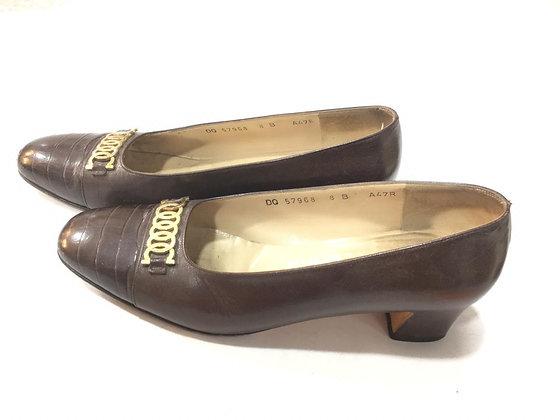 Zapatos Ferragamo Talle: 38 con hebilla dorada