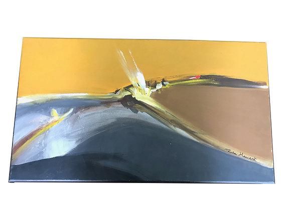 Cuadro Inicios#1 Medidas: 40 x 70 cm
