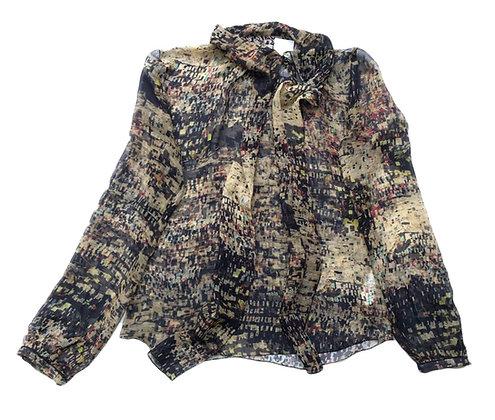 Blusa vintage estampada Talle: S