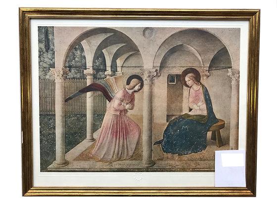 Cuadro Angél y Virgen Medidas: 50 x 37 cm aprox