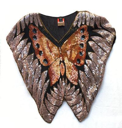 Blusa vintage mariposa Talle: M