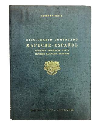 Libro Diccionario comentado Mapuche-Español