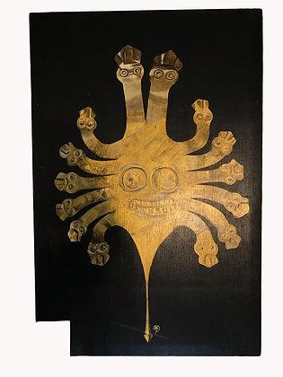 Cuadro Tocado de Serpiente Medidas: 62 x 40 cm