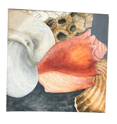 Set de 3 cuadros de caracola - Ausencia Medidas: 50 x 50 cm