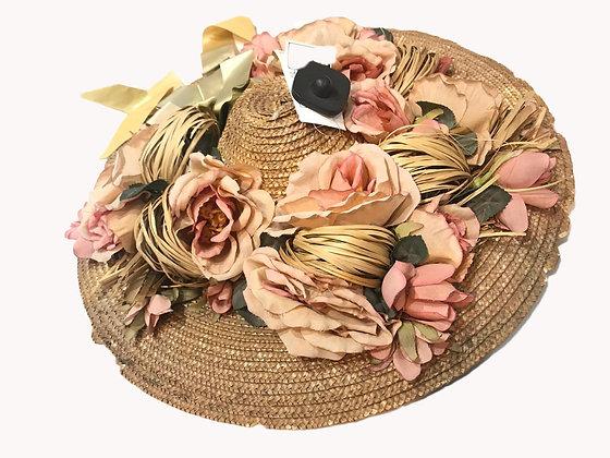 Sombrero Floreado Medida: Mediano