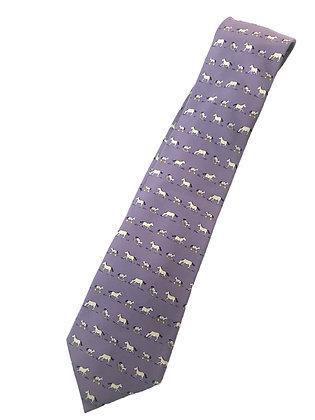 Corbata Hermes, estampado caballos