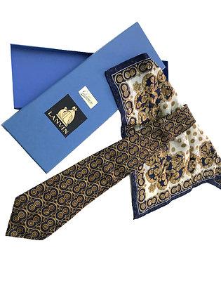 Corbata y pañuelo Lanvin
