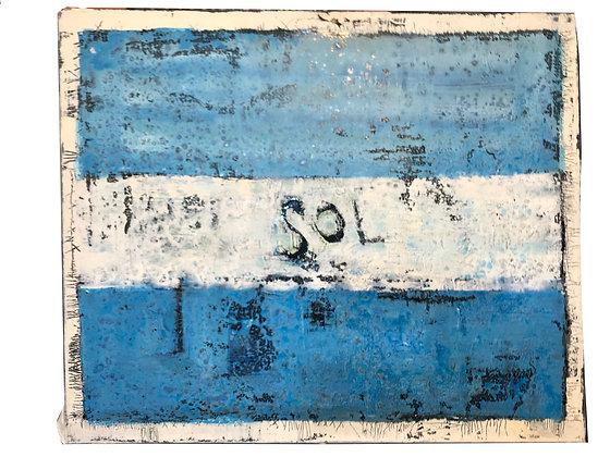 Cuadro Pobre mi Bandera Medidas: 60 x 45 cm aprox