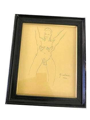 Cuadro G. Lachaise Medidas: 23 x 28 cm