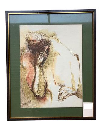 Cuadro Mujer pensativa Medidas: 60 x 45 cm aprox