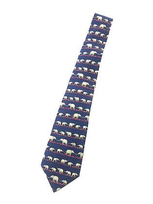 Corbata Hermes, estampado elefante