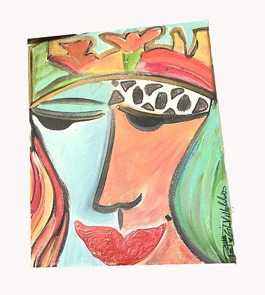Cuadro Serie de rostros Medidas: 28 x 23 cm