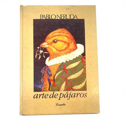 Libro Arte de pájaros Pablo Neruda
