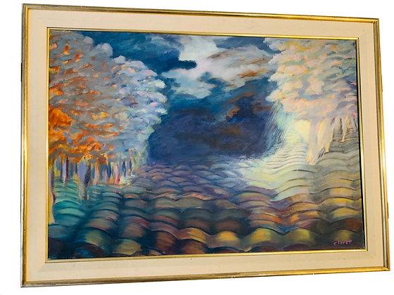 Cuadro paisaje de Claret Medidas: 60 x 45 cm aprox