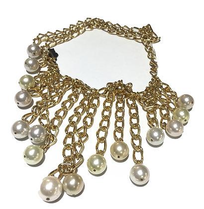 Collar Dorado de Perlas