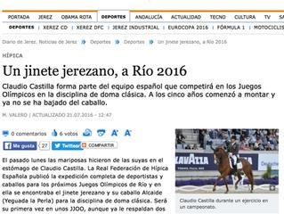 El Diario de Jerez habla de Claudio Castilla y de ALCAIDE de Yeguada La Perla
