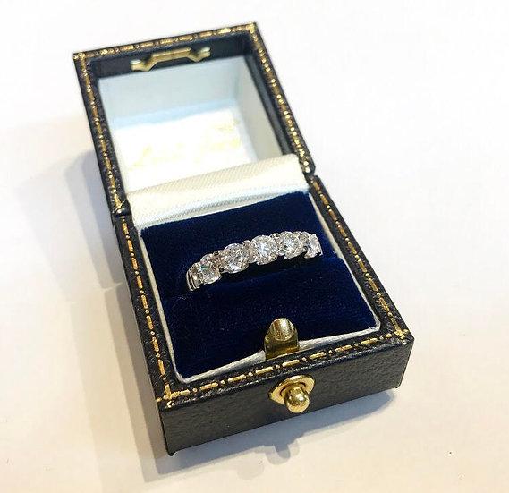 5 Stone Diamond Half Eternity Ring
