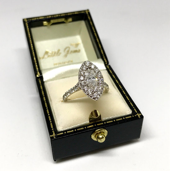 14ct Marquise Diamond Cluster Ring