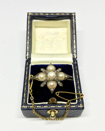Pearl and Diamond Brooch