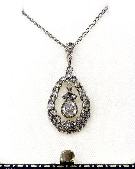 Silver and Diamond Georgian Pendant