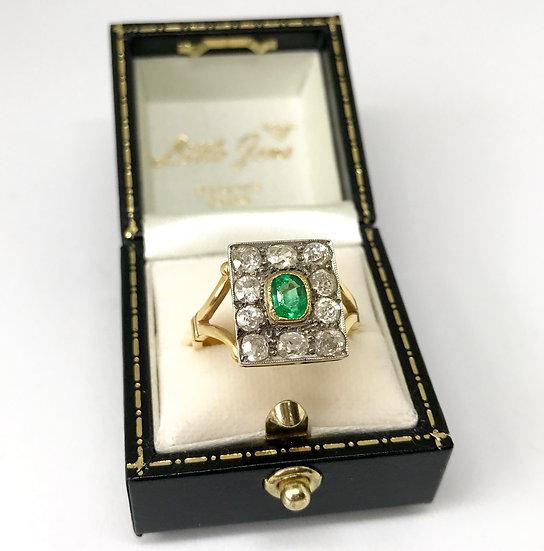 18ct Emerald and Diamond Ring