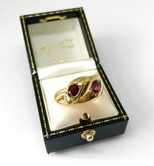 18ct Ruby Snake Ring