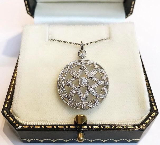 18ct White gold Diamond Pendant
