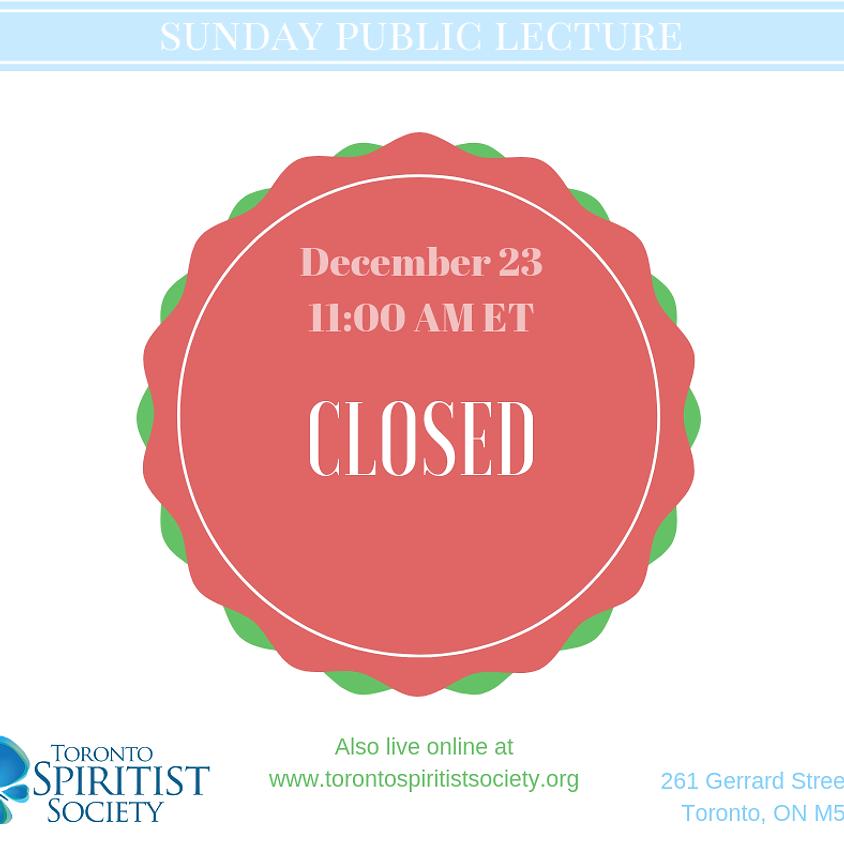 Year End break - closed on Dec 23