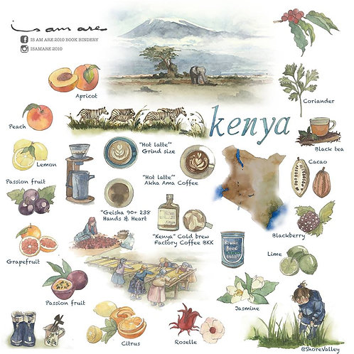 "{Sticker} Coffee Series Vol.6 ""KENYA"" Specialty coffee"