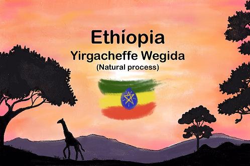 Ethiopia Yirgacheffe Wegida (Natural process) 250 g {filter}