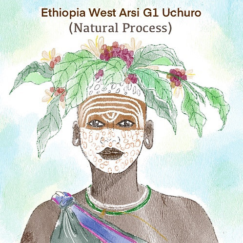 Ethiopia West Arsi G1 Uchuro (Natural Process) {Espresso}