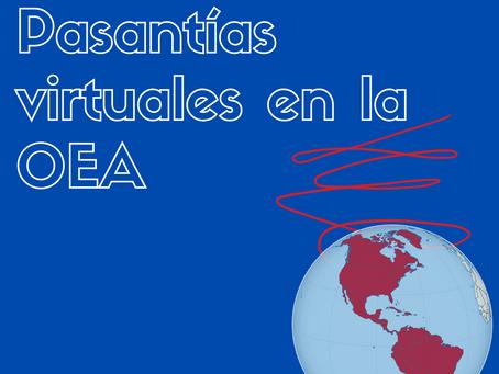 Empeza tu camino profesional con una pasantía en la OEA