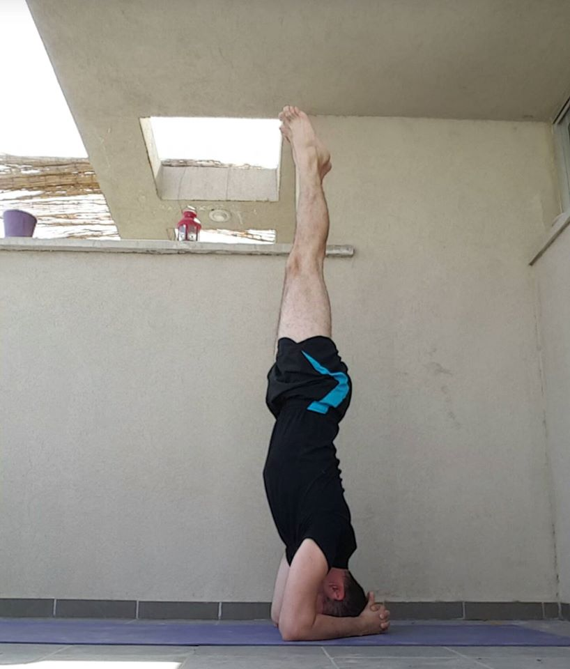 תנוחת יוגה: עמידת ראש