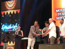 The winning moment- Spotlight Award.