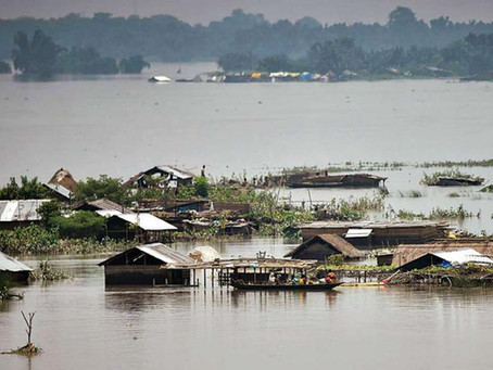 ASSAM GETS SEVERELY FLOODED, 84 HUMAN LIVES LOST TILL NOW