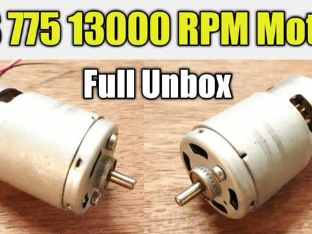RS 775 DC Motor 12v 13000 RPM, Full DataSheet