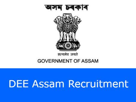 DEE Assam recruitment- 5053 Teacher (LP & UP) posts.