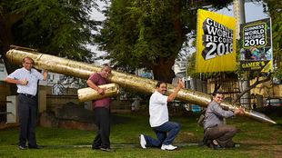 The World's largest Pen made by an Indian, in the Guinness Book of World Records.